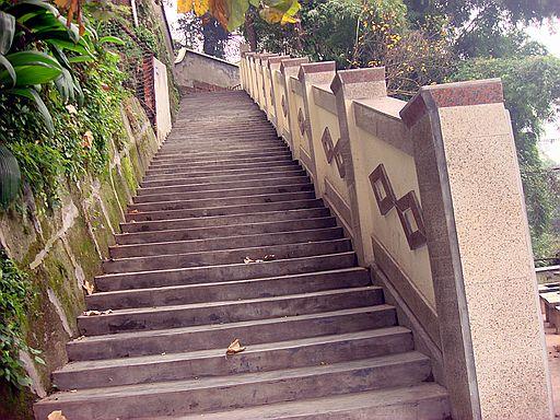 学校下山坡